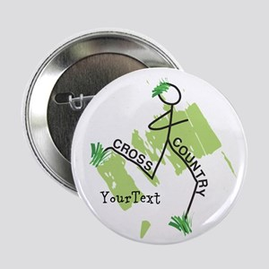 "Customize Cute Cross Country 2.25"" Button"